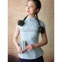China Improved Chinese Style Cotton Blouse on sale