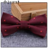 Best stock low moq 10 extra long burgundy bow tie wholesale