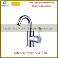 China Brass Sanitary Ware Single Lever Kitchen Tap Faucet on sale