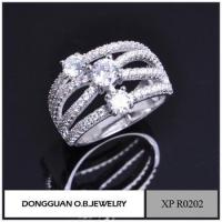 Best Rings Brass Material Jewelry Ring Clear Zircon Stone Finger Ring Holder wholesale