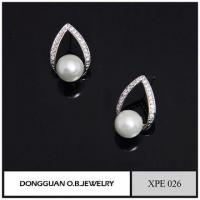 Best New Earring Designs Imitation Rhodium Pearl Jewelry, 2016 Stud Designs Artificial Pearl Jewelry wholesale