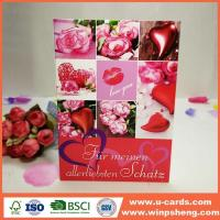 Best Handmade Simple Heart Shape Greeting Cards For Valentine wholesale