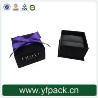 Best Logo printed wedding ring jewelry box with ribbon wholesale