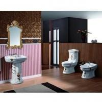 China Bathroom suites(Washdown two-piece toilet,Pedestal basin,Bidet) E-5013B B-5013B K-5013B on sale