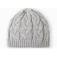 China Gray Crochet Winter Hat Curling Pattern , Knitted Crochet Warm Hat For Girls on sale