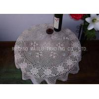 Best Round Shape Dinner Knitted Table Cloth Dessin Caviar For Home Furniture wholesale