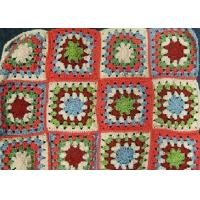 Best Multi - Color Square Crochet Stool Cover Handmade Floral Hollow Out Folded wholesale