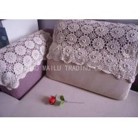 Best Comfortable Handmade Crochet Sofa Cover Hand Wash With Embossed Flowers wholesale