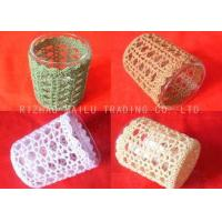 Best 100% Cotton Crochet Mug Covers Colorful Embossed Knitted Coffee Cup Sleeve wholesale