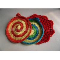 Buy cheap Handmade Crochet Accessories , 100% Acrylic Full Color Kitchen Knitted Dishcloths from wholesalers