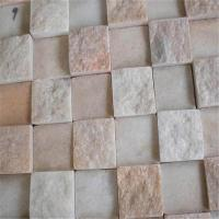 Buy cheap China 30*300Mm Pink Onyx and White Marble Penny Round Pattern Mosaic Tiles from wholesalers