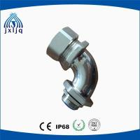 China 90 Degree Elbow Metal Flexible Conduit Fittings brass nickel plated material on sale