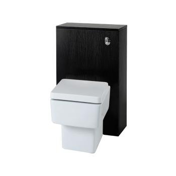 Cheap Idahi Bathrooms Zola Black 500mm Back To Wall Unit With Concealed Cistern And Cube BTW Toilet for sale