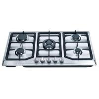 Buy cheap 201 Level S.S Brushed Panel 5 Sabaf Burners Automatic Gas Stove Kitchen Gas Hob for Cooking from wholesalers