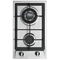 Buy cheap 2 Sabaf Burners S.S Brushed Panel Metal Knob LPg or NG Built- in Gas Stove For Kitchen from wholesalers
