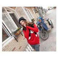 China Women Autumn Pure Knit Cat Pattern Loose Long Sleeve Pullover Sweater on sale
