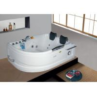 Best Hot Sale Indoor Two Person Acrylic Big Air and Whirlpool Hydro-massage Bathtub with Handle wholesale