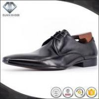 Best latest design brand leather shoes Italian shoes and bag set for men wholesale