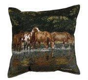 "Buy cheap ""Reflections"" - Horse Tapestry Pillow product"