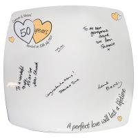 Buy cheap Anniversary Gifts A Perfect Love Golden Anniversary Message Plate from wholesalers