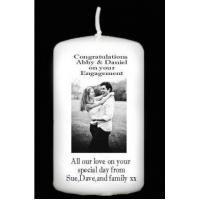 Buy cheap page Personalised Engagement Photo Candle 6