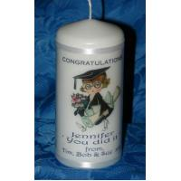 Buy cheap page Female Graduation Personalised Candle Gift 6