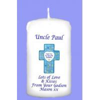 Buy cheap page Godfather Christening Personalised Gift Candle from wholesalers
