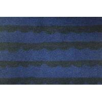 Best Jacquard Pattern Wool Knit Dress Fabric , Blue And Black Striped Upholstery Fabric wholesale
