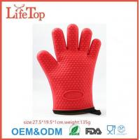 Buy cheap Silicone Cooking Gloves - Heat Resistant Oven Mitt for Grilling, BBQ, Kitchen from wholesalers