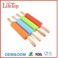 Buy cheap Non-Stick Silicone Surface Wooden Rolling Pin from wholesalers