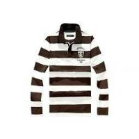 Best mens long sleeve striped polo shirts New 100% Cotton Men Long Sleeve Stripe Print Polo-shirt wholesale