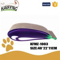 Best KFMZ-1003 Hot Sale Eggplant Shape Cat Scratcher Cat Lounge Bed wholesale