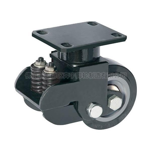 Cheap Extra Loading Polyurethane Shock Absorber Caster(Black) for sale