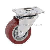 Buy cheap Light-duty patent Polyurethane Caster(Purplish Red) from wholesalers