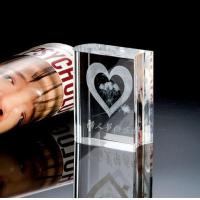 Best Crystal Book With 2D Heart Laser Inside wholesale