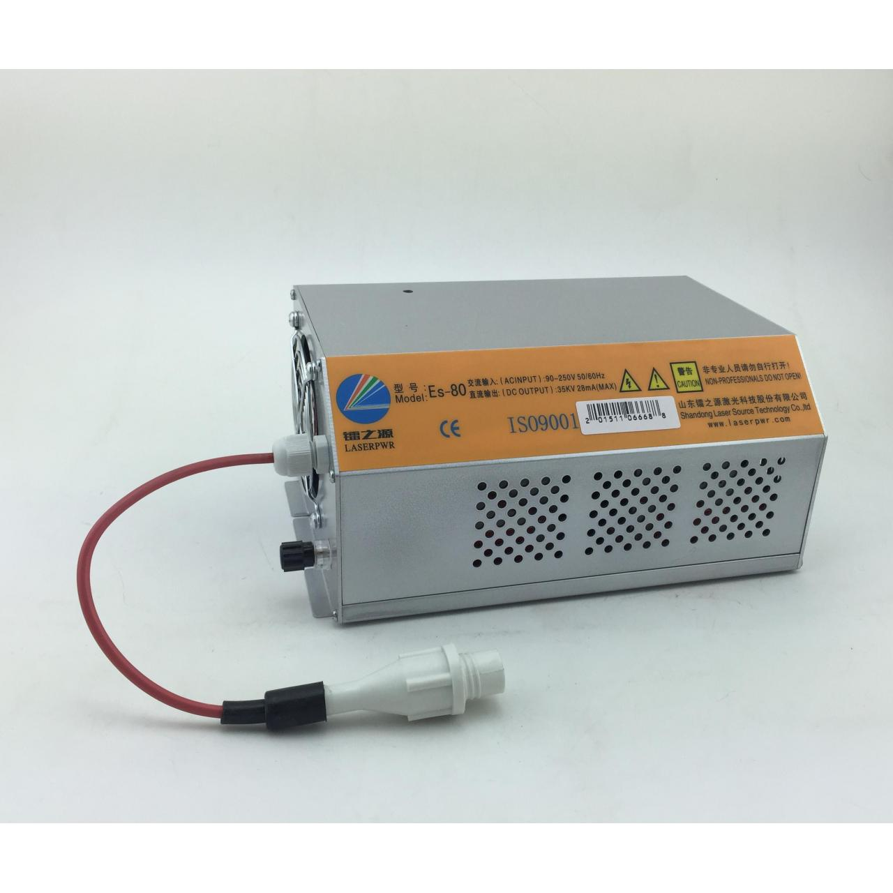 Buy cheap Es80 Es100 Es150 co2 laser power supply for EFR SZ serial tube from wholesalers
