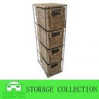 China 2013 woven S/3 beautiful and durable flower water hyacinth storage basket on sale