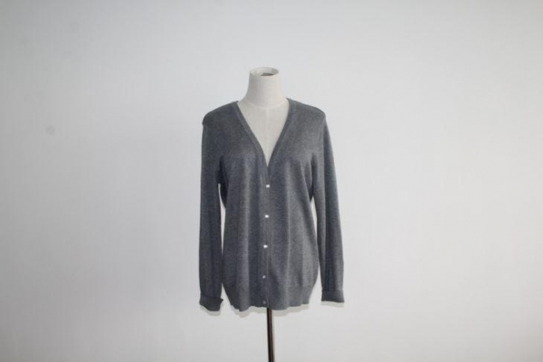 Cheap Women Basic V-neck Button Down Cardigan Sweater for sale