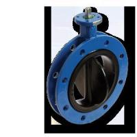 Rubber Seat Flange Butterfly Valve