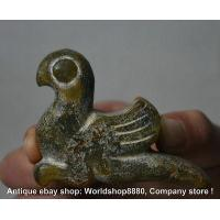 Best 7cm Rare Antique China Hongshan Culture Jade Carved Fly Birds Abstract Sculpture wholesale