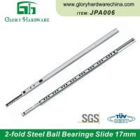 Buy cheap Wholesale JPA006 Ball Bearing Slide Rails 2-fold Concealed Slide Ball Hardware for Drawers from wholesalers