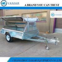 China 8x5 FulLED Welded Box Trailer with Side Open Tradesman Top on sale