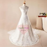 Best Plus Size Vintage Lace Wedding Dresses with Long Sleeves WD1562 wholesale