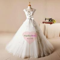 Buy cheap Tulle Ball Gown Lace Appliques Wedding Dresses with Belt WD1545 from wholesalers