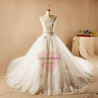 Buy cheap Long Cathedral Train Ball Gowns with Lace Appliques WD1521 from wholesalers