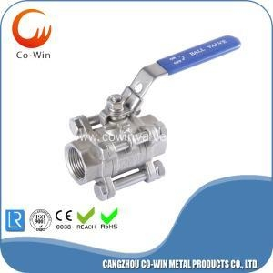 China Stainless Steel 3 PC Ball Valves