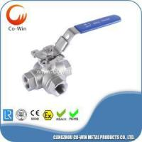 Buy cheap 304 3 way ball valve -T port with mounting Pad from wholesalers