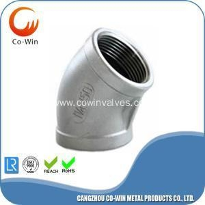 China ISO4144 threaded fittings elbow 45