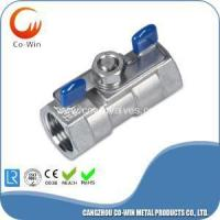 China Investment Casting 1PC Butterfly Handle Ball Valve on sale