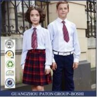 China Custom Primary School Shirt /Short Skirt And Pants For Children Summer School Uniform on sale